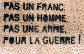 antiguerre slogan